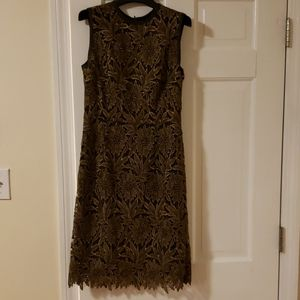 ESCADA Doniss Embroidered Gold Dress Size 36 NWT